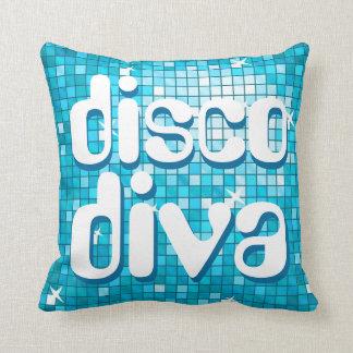 """Disco deckt blaues """"Discodiva"""" Wurfskissen mit Kissen"""