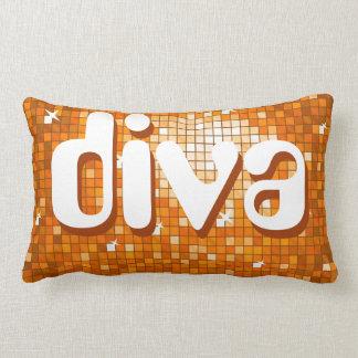 """Disco deckt orange """"Diva"""" Wurfskissen Ameliatext Lendenkissen"""