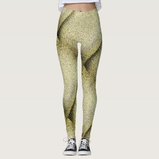 Disco-Goldgamaschen Leggings