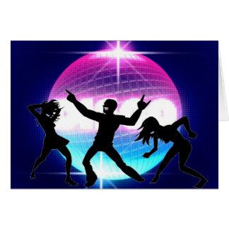 Disco-Nachtklub Grußkarte