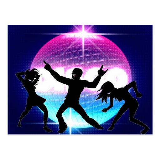 Disco-Nachtklub Postkarte
