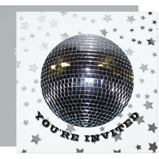 Disco-Party 70er des Disco-Tanz-Geburtstags-Party Karte