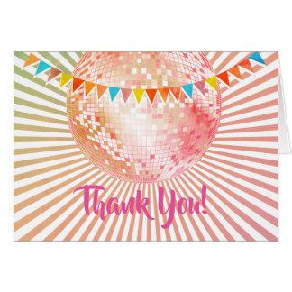 Disco-Party, Glitter, Tanz, Party danken Ihnen zu Karte