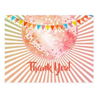 Disco-Party, Glitter, Tanz, Party danken Ihnen zu Postkarte