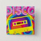 Disco-Party Quadratischer Button 5,1 Cm