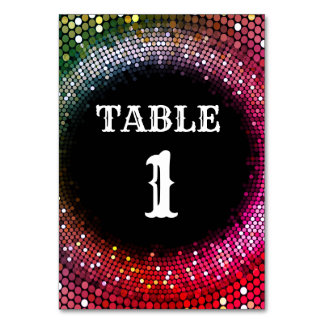 Disco-Party Tabellenkarte Karte