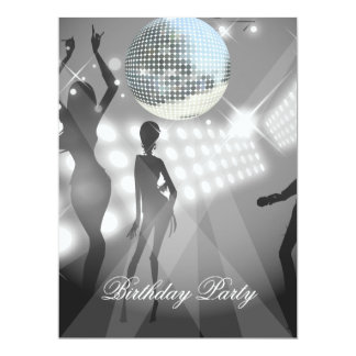Disco-Retro Geburtstags-Party Einladung