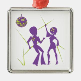 Disco-Tanz Silbernes Ornament
