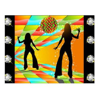 Disco-Tanzen Postkarte