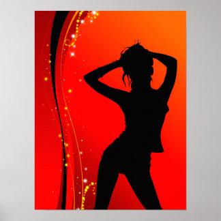 Disco-Tänzer-Plakat Poster