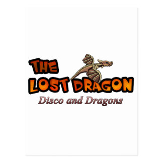 Disco und Drachen Postkarte