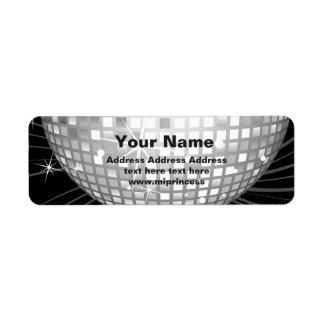 Discoball-Rücksendeadresseaufkleber Rücksende Aufkleber