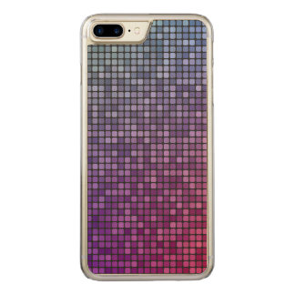 Discofieber-Pixelmosaik Carved iPhone 7 Plus Hülle