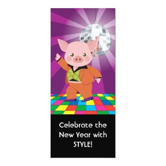 Discoschwein auf dem Tanzboden 10,2 X 23,5 Cm Einladungskarte
