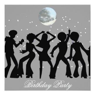Discosiebziger jahre Geburtstags-Party Einladung Quadratische 13,3 Cm Einladungskarte