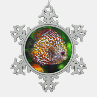 Discus_20170601_by_JAMColors Schneeflocken Zinn-Ornament