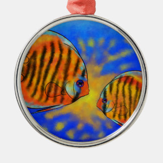 Discussios V1 - fantastischer Discus Rundes Silberfarbenes Ornament