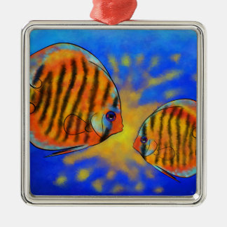 Discussios V1 - fantastischer Discus Silbernes Ornament
