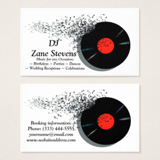 Diskjockey DJ-Disc-Jockey-Vinylaufzeichnung Visitenkarte