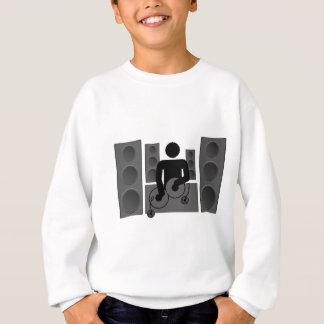 Diskjockey mit Turntable und Lautsprecher Sweatshirt