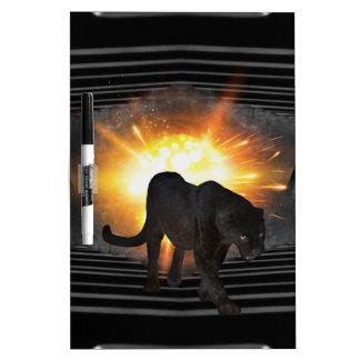 Diskjockey schwarzer Panther Vereindisco Memoboard