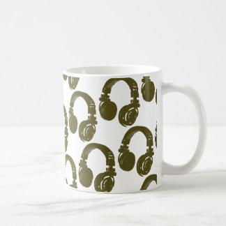 Diskjockeykopfhörer Kaffeetasse