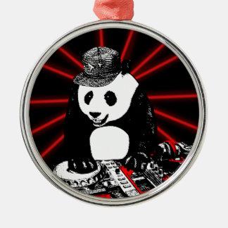 Diskjockeypanda Silbernes Ornament