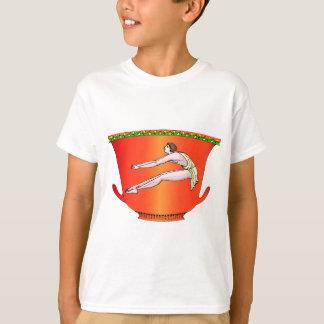 Diskuswerfer auf Tonwaren T-Shirt