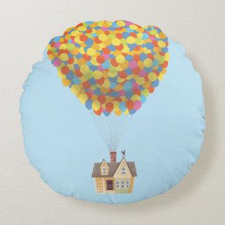 Disney Pixar HERAUF | Ballon-Haus-Pastell Rundes Kissen