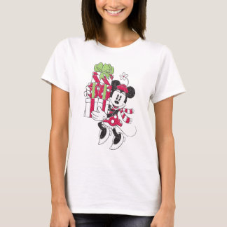 Disney | Vintager Minnie, der Feiertags-Beifall T-Shirt