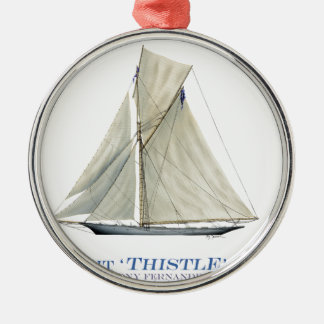 Distel 1887 silbernes ornament