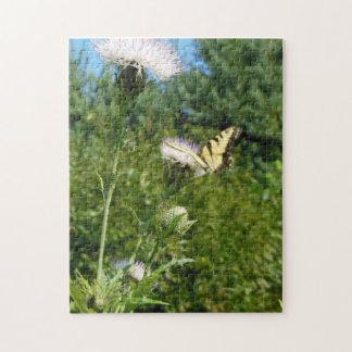 Distel und Schmetterling in den Hochländern N.C. Puzzle