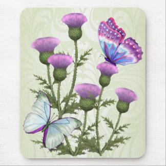 Disteln und Schmetterlinge Mauspads