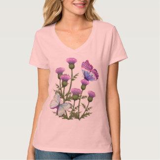 Disteln und Schmetterlinge Shirt