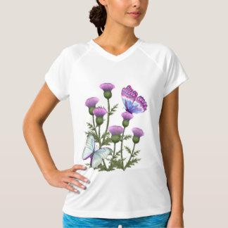 Disteln und Schmetterlinge T-Shirt