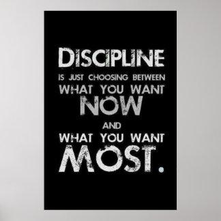 Disziplin Poster