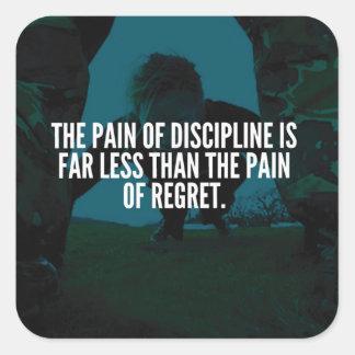 Disziplin - Training inspirierend Quadratischer Aufkleber
