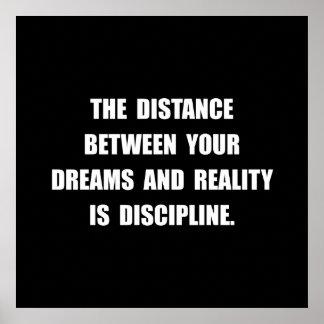 Disziplin-Zitat Poster