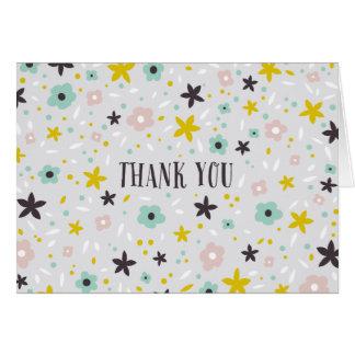 Ditsy Blume danken Ihnen Anmerkungs-Karte Karte