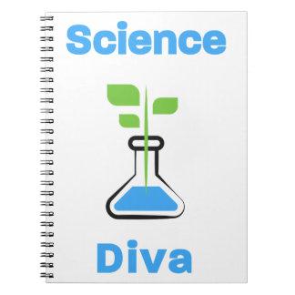 Diva der Wissenschafts-(Biologie) Spiral Notizblock