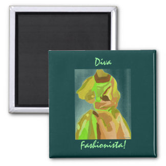 Diva Fashionista In Spring Magnet Magnets
