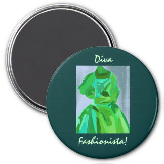 Diva Fashionista In Summer Magnet Refrigerator Magnet