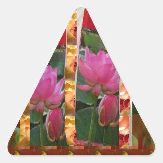 DIVA Mode-Couture-Lotos-Gewebe-Blumen Billig Dreieckiger Aufkleber