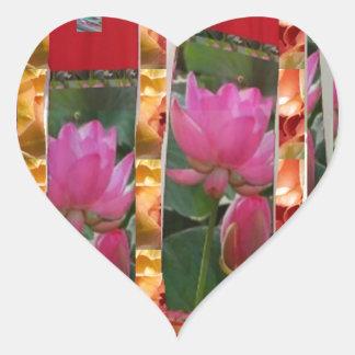 DIVA Mode-Couture-Lotos-Gewebe-Blumen Billig Herz-Aufkleber