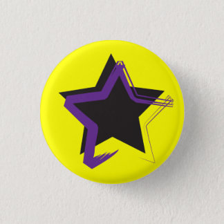 Diva-Stern-Miniknopf Runder Button 3,2 Cm