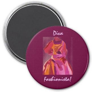 Divafashionista-Herbst-Rottöne Magnete
