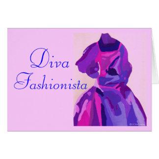 DivaFashionista im Blau Karte