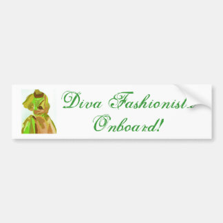 DivaFashionista im Frühjahr Auto Sticker