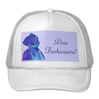 DivaFashionista in Blau I Baseball Kappe