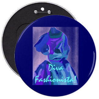 DivaFashionista in Blau I Button